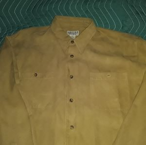 COTTON REEL L khaki 100% polyester dress shirt